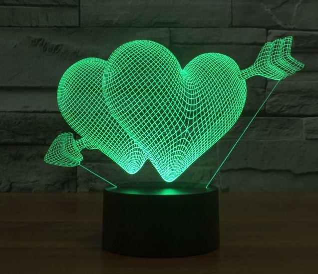 Đèn led 3D heartstruck 2
