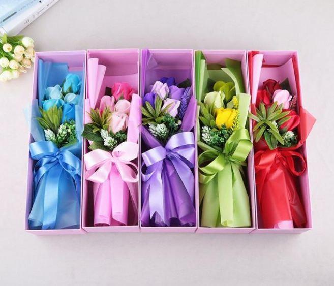 Hộp Hoa hồng sáp thơm 5 bông - Shop Quà Tặng 365