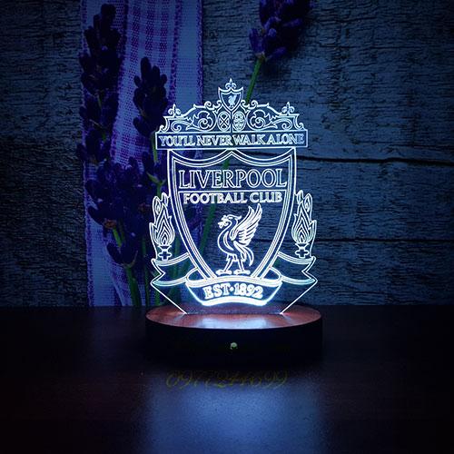 Đèn ngủ 3D in logo đội bóng Liverpool